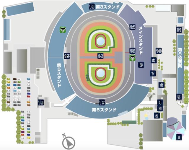 松戸競輪場の施設案内画像